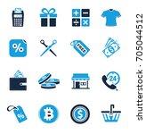 shopping icons | Shutterstock .eps vector #705044512