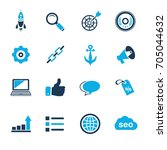 internet marketing icons   seo  ... | Shutterstock .eps vector #705044632