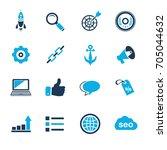 internet marketing icons   seo  ... | Shutterstock .eps vector #705044632