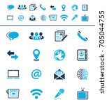 media and communication icons | Shutterstock .eps vector #705044755