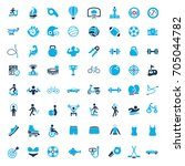 sports icons | Shutterstock .eps vector #705044782