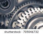 engine gear wheels  industrial... | Shutterstock . vector #705046732