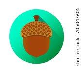 acorn icon in trendy flat style ...