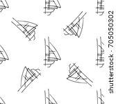 black and white childish... | Shutterstock .eps vector #705050302
