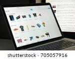 milan  italy   august 10  2017  ...   Shutterstock . vector #705057916