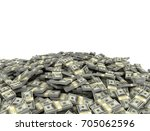 large stack of us dollars... | Shutterstock . vector #705062596