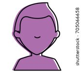 young man shirtless avatar... | Shutterstock .eps vector #705066658