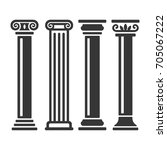 ancient columns icon set. vector | Shutterstock .eps vector #705067222