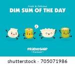 vintage dim sum poster design... | Shutterstock .eps vector #705071986