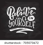 vector illustration of believe... | Shutterstock .eps vector #705073672