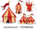 circus vintage tent vector... | Shutterstock .eps vector #705088486