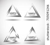 vector hipster triangle... | Shutterstock .eps vector #705091246