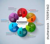 presentation business 3d... | Shutterstock .eps vector #705091462