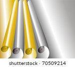 card with  curved around the...   Shutterstock .eps vector #70509214