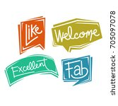 Four Colorful Balloon Text Wor...