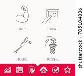 baseball  football and... | Shutterstock .eps vector #705104836