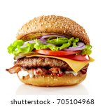 Fresh tasty burger isolated on...