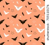 happy halloween pattern | Shutterstock .eps vector #705110176