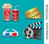 illustration of movie icon | Shutterstock .eps vector #705116536