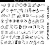 doodle icon set   web   internet | Shutterstock .eps vector #70512289