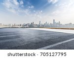 panoramic skyline and buildings ... | Shutterstock . vector #705127795