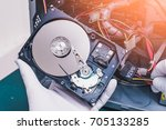 the abstract image of the... | Shutterstock . vector #705133285