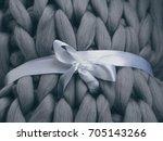 merino wool handmade knitted... | Shutterstock . vector #705143266