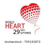 world heart day september 29... | Shutterstock .eps vector #705152872