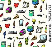 vector illustration of school... | Shutterstock .eps vector #705155038