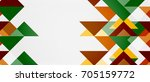 triangle pattern design... | Shutterstock . vector #705159772