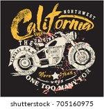 vintage motorcycle vector...   Shutterstock .eps vector #705160975