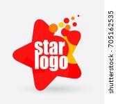 shining star logo design.... | Shutterstock .eps vector #705162535