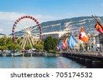 Ferris Wheel In Geneva In A...