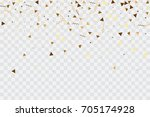 vector golden confetti on... | Shutterstock .eps vector #705174928