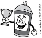 spray can with trophy... | Shutterstock .eps vector #705175756