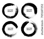 grunge circles.grunge round... | Shutterstock .eps vector #705187252