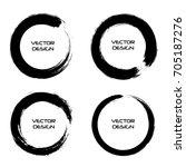 vector grunge circles.grunge... | Shutterstock .eps vector #705187276