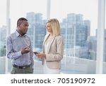 digital composite of business... | Shutterstock . vector #705190972
