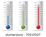 thermometer set | Shutterstock .eps vector #70519207