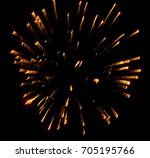 fireworks in the sky at night...   Shutterstock . vector #705195766