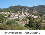 view of old town in valldemossa ... | Shutterstock . vector #705200842