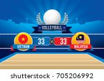volleyball tournament design... | Shutterstock .eps vector #705206992