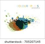 vector color splats. graphic... | Shutterstock .eps vector #705207145