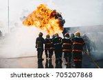 Teamwork Of Firefighters...