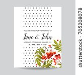 wedding invitation template.... | Shutterstock .eps vector #705208078
