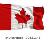 Flag Of Canada  Fluttered In...