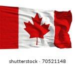 Flag Of Canada  Fluttered In...