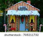 decorative santa workshop | Shutterstock . vector #705211732