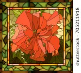 vector mosaic of brightly red... | Shutterstock .eps vector #705211918