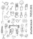 Gardening Icons Vector...